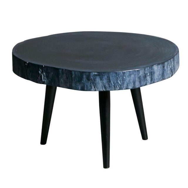 Small Black Wood Side Table - Image 1 of 2
