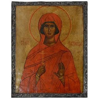 16th Century Saint Paraskeva Piatnitsa Pyatnitsa Russian Icon For Sale