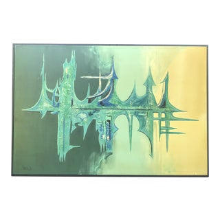 "Large Oil on Canvas ""Sound Wave""Abstract Painting Carlo of Hollywood For Sale"
