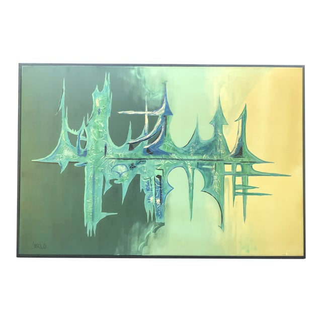 """Large Oil on Canvas """"Sound Wave""""Abstract Painting Carlo of Hollywood For Sale"""