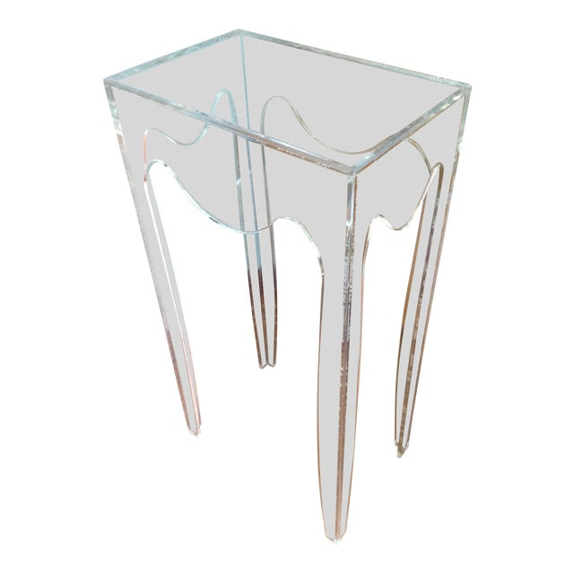 Vintage Acylic Plant Stand Table For Sale