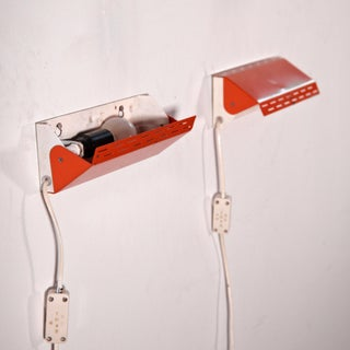 1970s Orange Wall Sconces Denmark by Knud Christiansen - a Pair Preview
