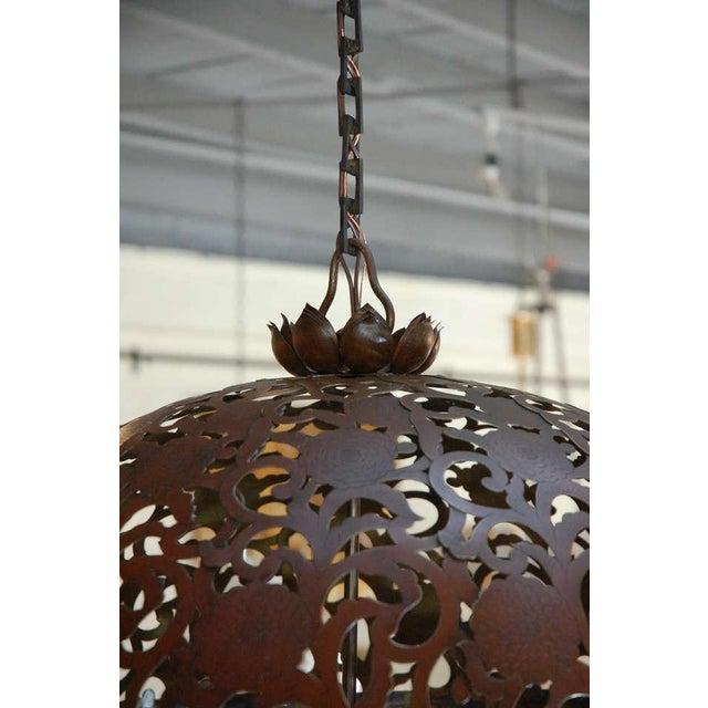 Large Japanese Lantern Fixture - Image 5 of 8