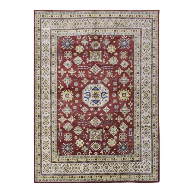 Afghan Kazak Wool Rug - 9'x11'11'' For Sale
