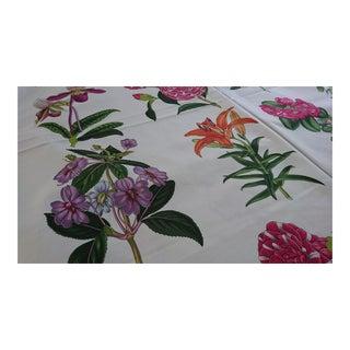 Brunschwig & Fils Grandiflora Cotton Paint Fabric For Sale