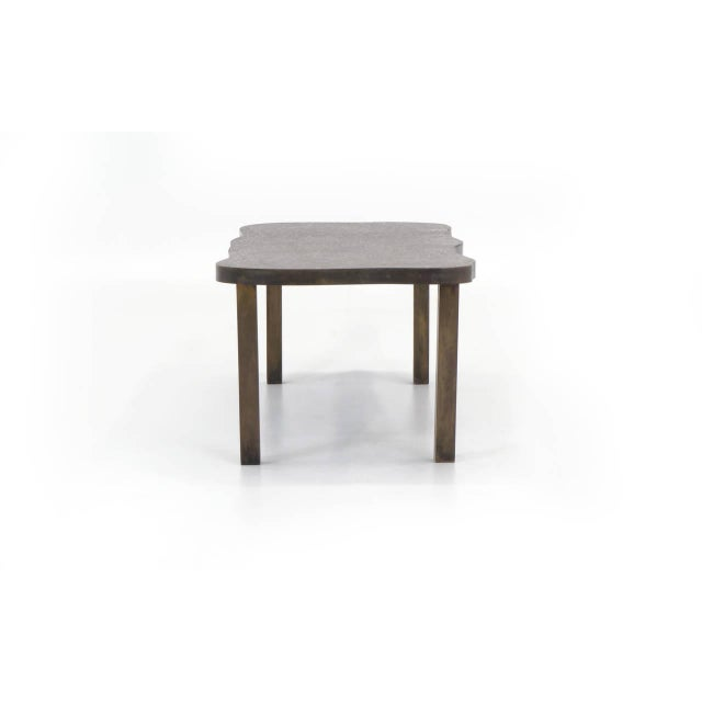 Brutalist Bronze Coffee Table by Philip and Kelvin LaVerne For Sale - Image 3 of 10