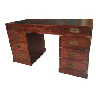 Baker Campagin Style Rosewood Desk For Sale