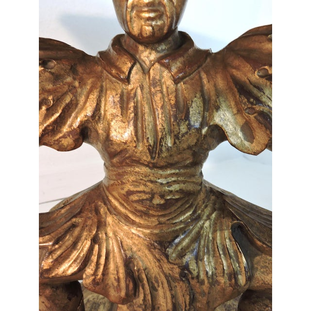 Antique Figural Italian Gilt Wood 'Chinese' Side Tables by Fratelli Paoletti (Early 20th. Century) For Sale - Image 9 of 12