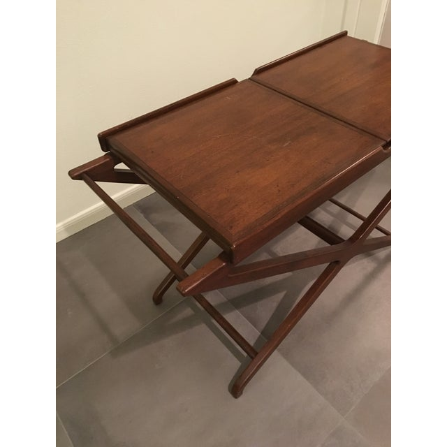 Americana 1950s Mid-Century Modern Cesare Lacca for Baker Furniture Walnut Bar Cart For Sale - Image 3 of 9