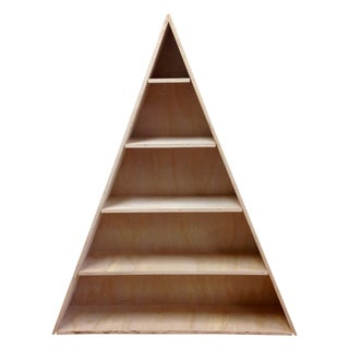Triangular Natural Maple Bookshelf