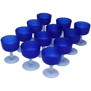 12 Italian Glass Goblets For Sale