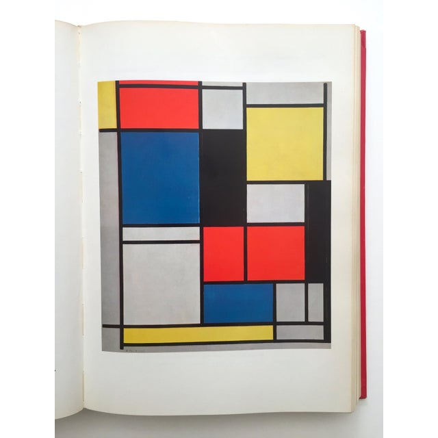 """"""" Piet Mondrian - Life and Work """" Rare Vintage 1956 1st Edtn Collector's Iconic Large Volume Lithograph Print Modernist Art Book For Sale - Image 11 of 13"""