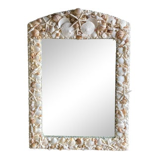 Coastal Hand Made Shell Mirror For Sale