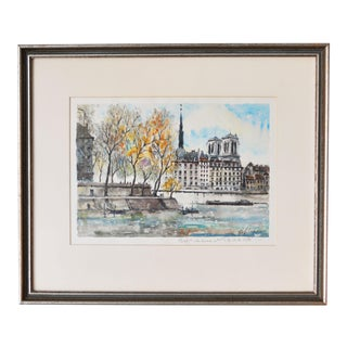 Original Signed Watercolor Painting by Pierre Eugene Cambier