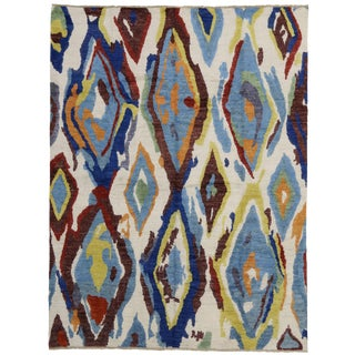 Modern Moroccan Rug with Contemporary Abstract Design - 10'4 x 13'7 For Sale