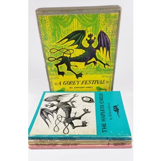 "1968 ""A Gorey Festival"" by Edward Gorey - 4 Paperbacks in Illustrated Slipcase Preview"