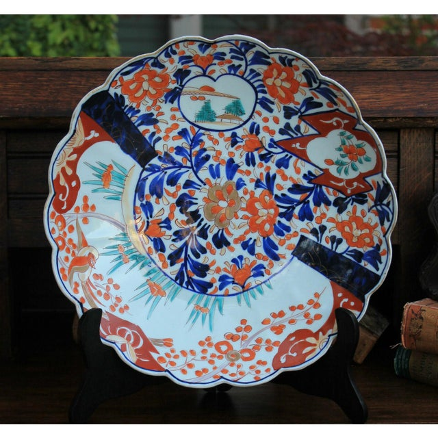 Antique 19th Century Imari Bowl Serving Dish Plate Charger Japan For Sale - Image 12 of 12