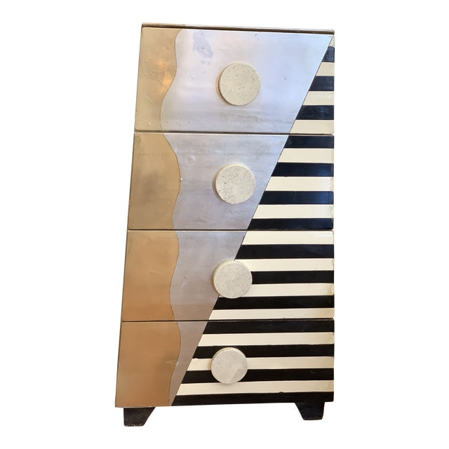 Memphis Style Chest of Drawers Circa 1990 For Sale