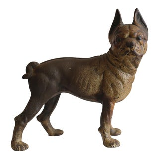 1930s Cast Iron Hubley Boston Terrier Doorstop