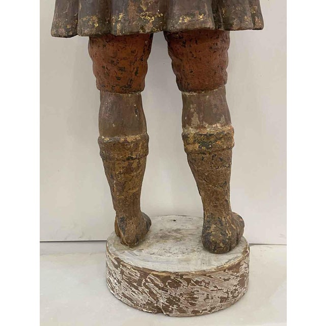 Antique San Isidro 32 In. Wood Statue For Sale - Image 12 of 13