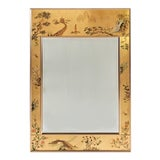 Image of La Barge Chinoiserie Reverse Hand Painted Eglomise Mirror Hand Signed M. A. De Pree For Sale