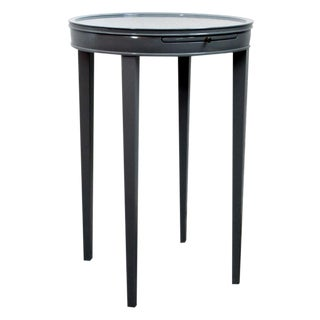 Round Gray Lacquer Occasional Table For Sale