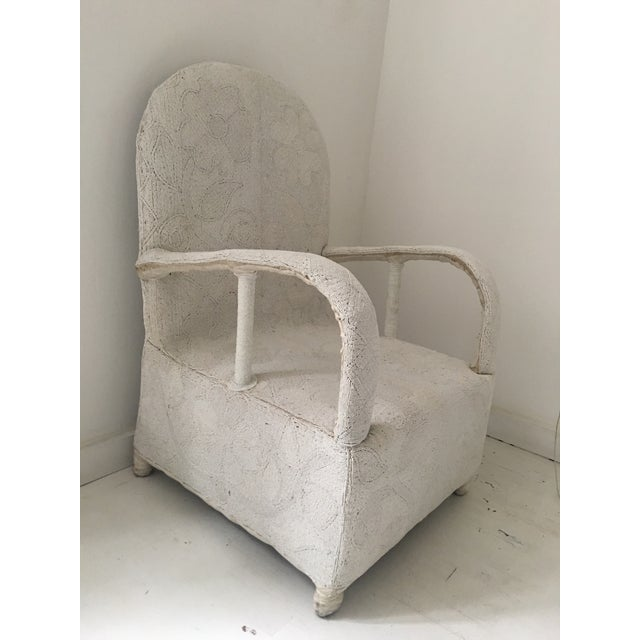 "1980s African White Beaded ""Nobility Chair"" For Sale In New York - Image 6 of 6"