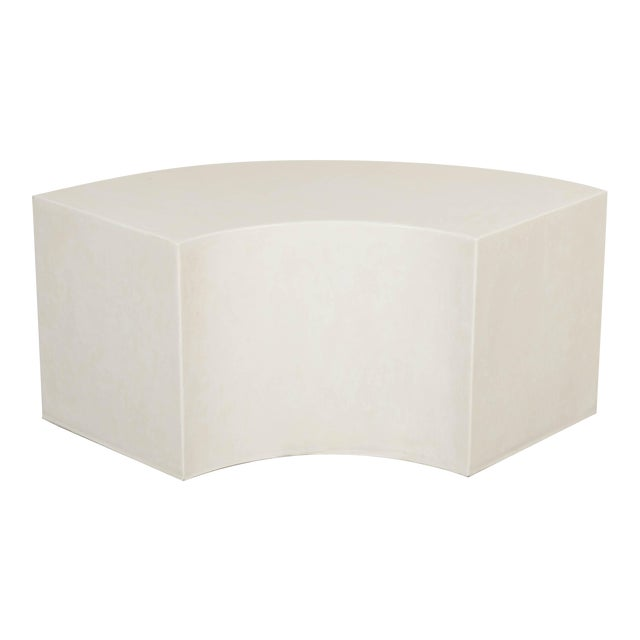 Curve Bench - Cream Lacquer by Robert Kuo, Hand Made, Limited Edition For Sale