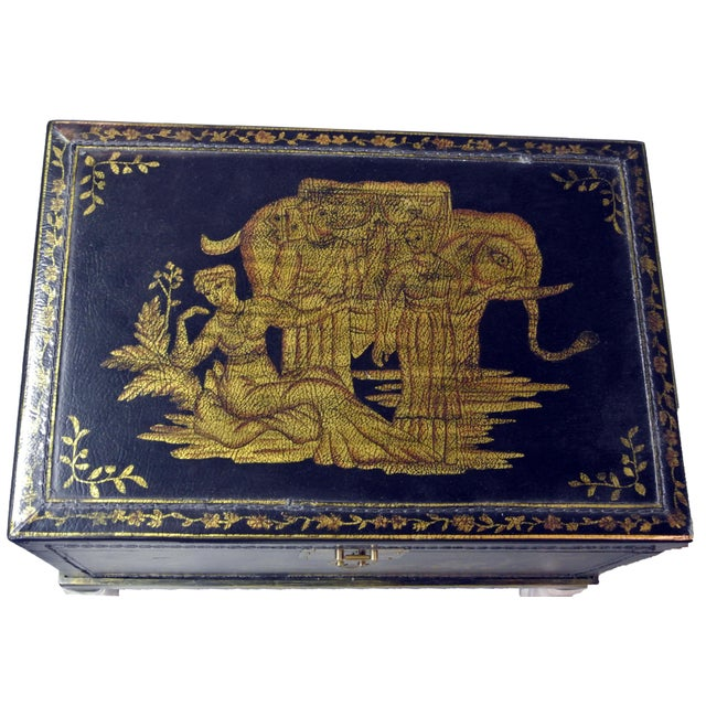 Blue 1990s Chinoiserie Chairside Box Side Table For Sale - Image 8 of 9