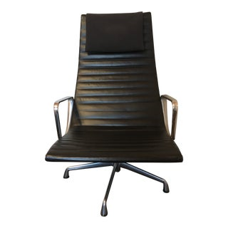 1990s Mid-Century Modern Herman Miller Black Leather Chair For Sale