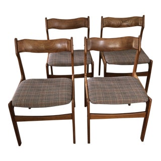 Mid Century Danish Style Teak Dining Chairs- Set of 4 For Sale