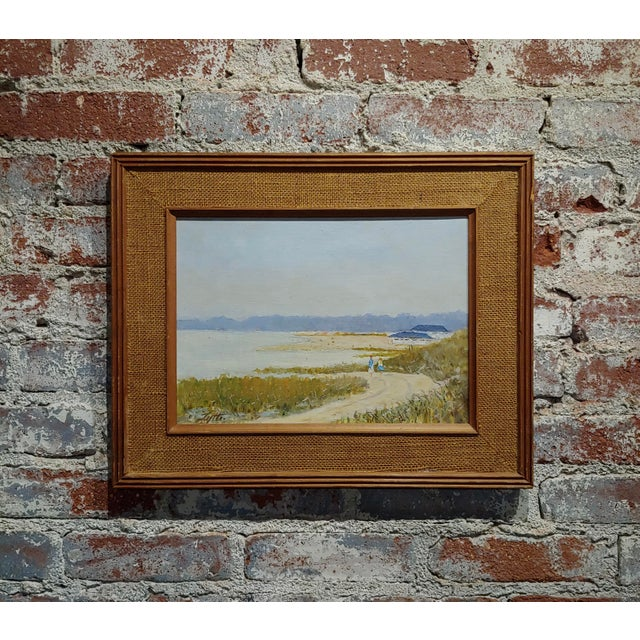 Ralph Arthur Lyle -Walking Trail on a California Beach Landscape -Oil Painting For Sale - Image 9 of 9