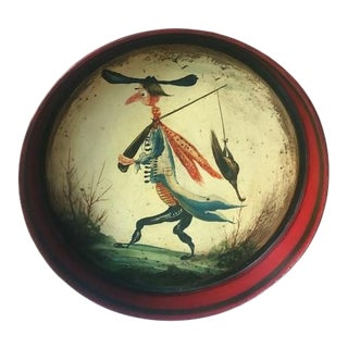 Mid 20th Century Hand Painted French Bar Tray- Signed For Sale