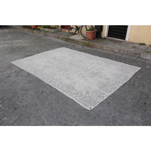 This listing is for an exceptional vintage handmade Turkish rug coming from Burdur. The age of this sweet carpet is...