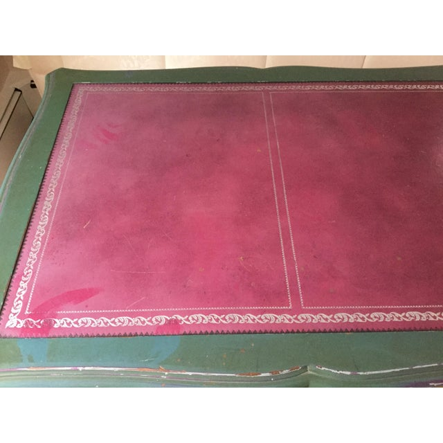 1980s Louis XV Style Painted Desk For Sale - Image 5 of 12
