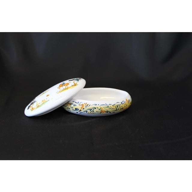 White Vintage Ernan Albisola Italian Ceramic Lidded Trinket Box For Sale - Image 8 of 11