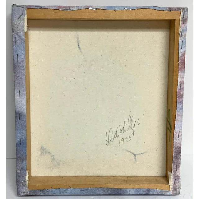 Modern Trompe-l'oeil crumbled paper oil painting, Herb Phillips, 1995 Realistically painted in multi colors of crumbled...