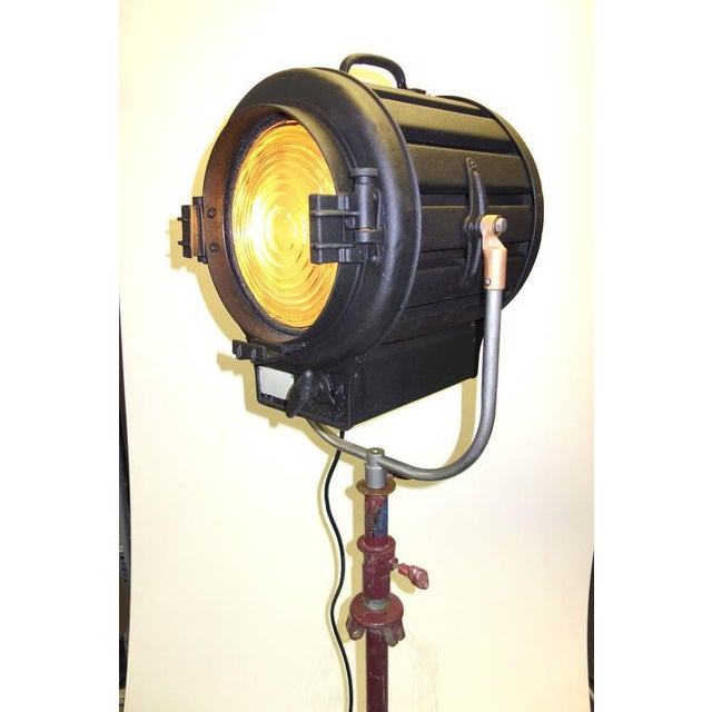 Art Deco Movie Studio 1939 Light On Vintage Stand With Factory Finish. Display As Sculpture. Use As Floor Lamp. For Sale - Image 3 of 10