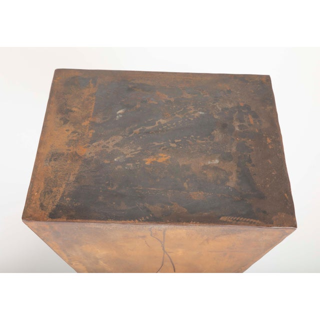 Brancusi Style Steel Side Tables - A Pair For Sale - Image 12 of 13