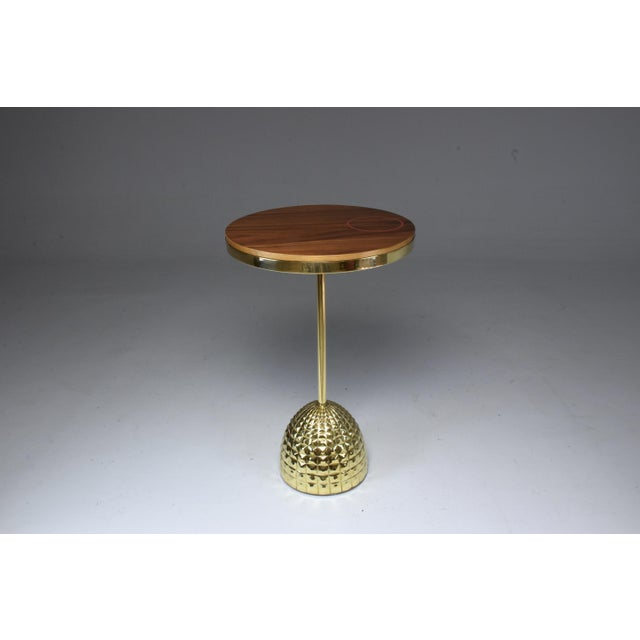 Unio Contemporary Brass Charging Table, Flow Collection For Sale - Image 10 of 12