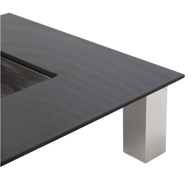 Mid-Century Modern Square Granite Top Coffee Table For Sale - Image 4 of 11