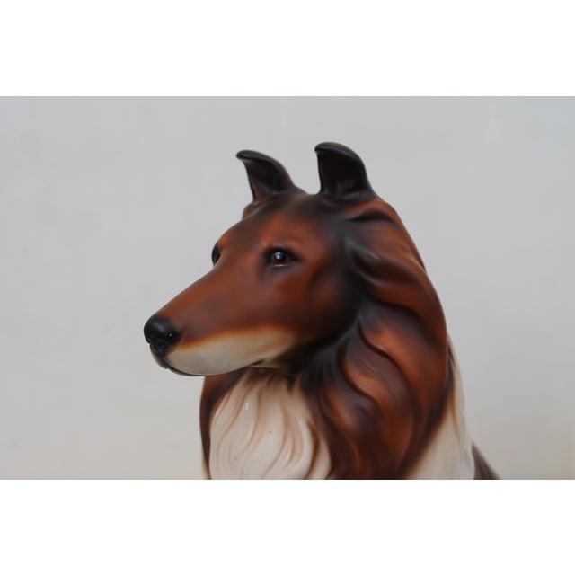 Mid-Century Glazed Ceramic Dog Sculpture For Sale - Image 9 of 12