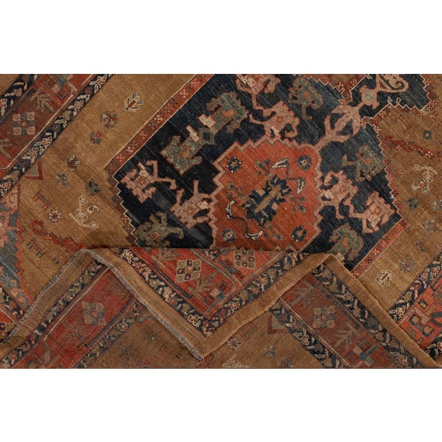 "Vintage Persian Tribal Bakshaish Rug, 8'0"" X 9'6"" For Sale - Image 10 of 12"