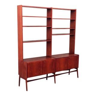 Mid-Century Scandinavian Design Book Shelf and Cabinet