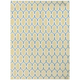 Zara Trellis Yellow Flat-Weave Rug 5'x8' For Sale
