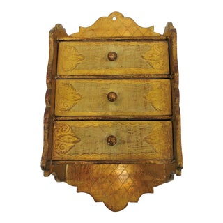 Florentine 3 Drawer Hanging Jewelry Box For Sale
