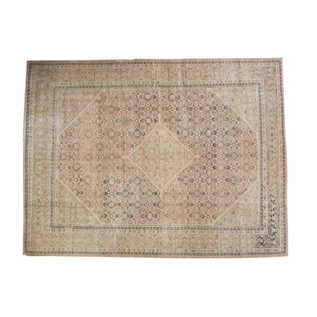 "Vintage Distressed Mahal Carpet - 9'9"" X 12'8"" For Sale"