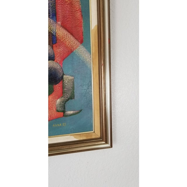 1990 Anna Goncharova Postmodern Style Abstract Painting For Sale - Image 10 of 13