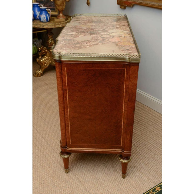 Bronze 19c. French Parquetry Secretaire / Commode For Sale - Image 7 of 10