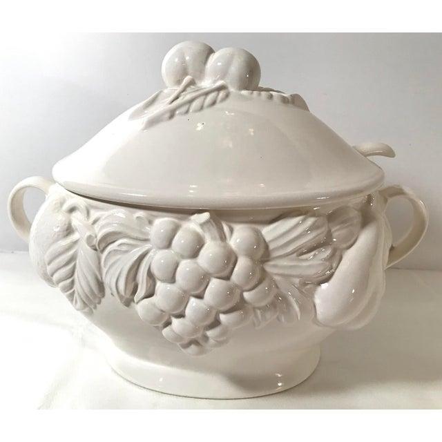 Vintage Japanese Fruit Motif Lidded Soup Tureen with Ladle For Sale - Image 9 of 9